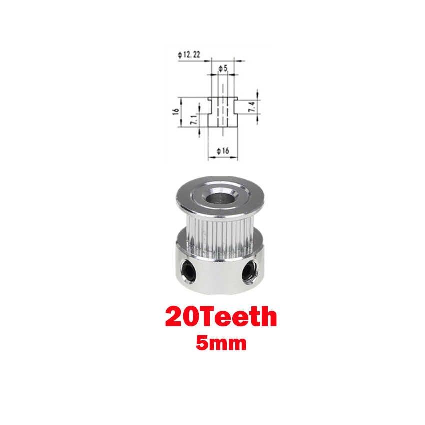 Gt2 poulie 3d imprimante pièces accessoire Gt2 20 dents 16 dents 16 20 dents alésage 5mm/8mm calage en aluminium pour Gt2 6mm courroie de distribution ouverte