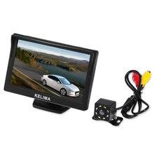 5 Polegada Tela de Exibição e 8 LED Night Vision Camera Invertendo Carro Câmera Retrovisor Interior Visor Da Câmera de 120 graus À Prova D' Água