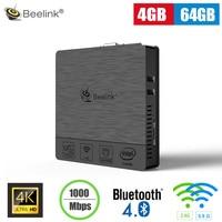 Beelink BT3 Pro Mini PC Intel Atom X5 Z8350 4GB 64GB Support 5.8G WiFi Bluetooth4.0 1000Mbps Media Player Support Windows 10
