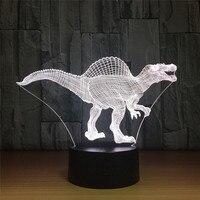 Creative dinasour 3d Lamp Led Children's nightlight Visual USB Night Lights Illusion Table Desk Lamp As Gift