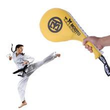Боксерские тренировочные подкладки для детей и взрослых Тхэквондо ПУ отскок губка двойной Kick Pad Target Tae KwonDo каратэ Тренировка по кикбоксингу фитнес