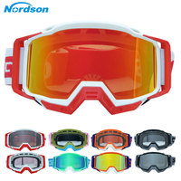 Nordson motocross óculos de esqui snowboards óculos da motocicleta ao ar livre esportes mx óculos da bicicleta sujeira atv moto capacete máscara