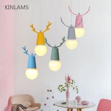 цена Nordic Modern Creative Color Macarons Pendant Lights Kid Bedroom Warm Cute Pendant Lamp Restaurant Bar Decor Hanging Light онлайн в 2017 году