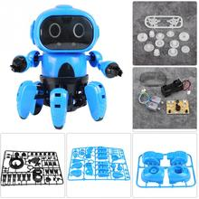 Intelligent Induction RC Robot DIY Assembled Electric Follow Robot with Gesture Sensor Obstacle Avoidance Kids Educational Toys