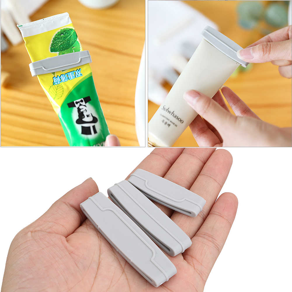 3 pçs/set Extrusão Creme Dental Clipe Fácil de Banho Produtos Creme Espremedor de Tubo de Creme Dental Espremedor de Dispensador