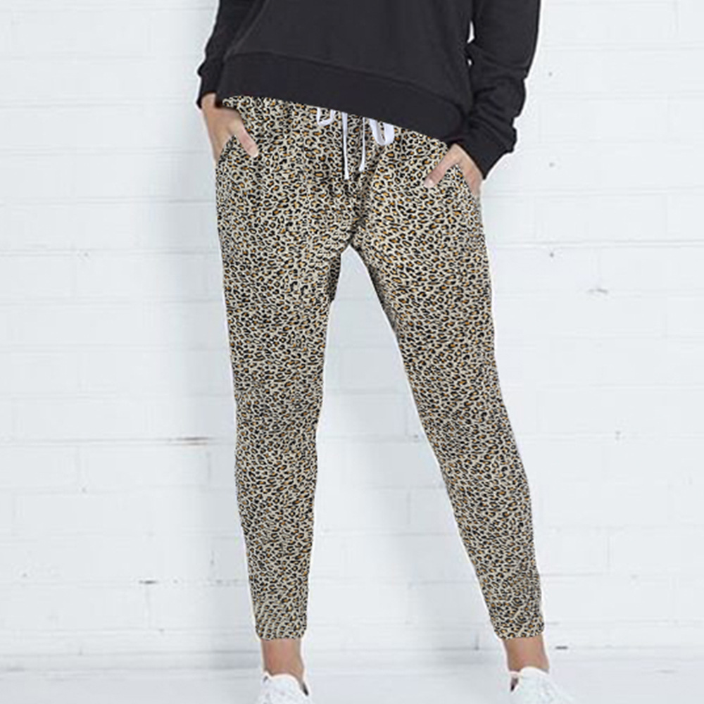 Fashionable woman 2018 women five color printing, loose Haren trousers 2