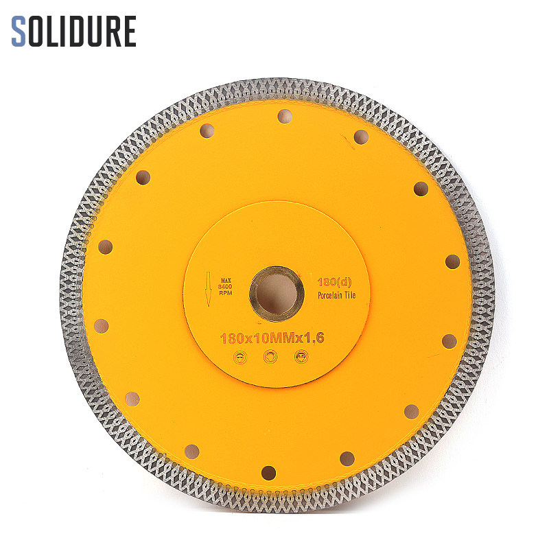 Hot Sintered 7 Inch 180mm X Shape Super Thin Diamond Porcelain Cutting Blade For Ceramic And Porcelain Tiles
