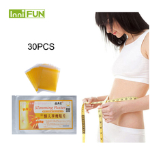 30pcs yellow Color Fast Slimming Diet Products No-diet Weight Loss Slimming Patc