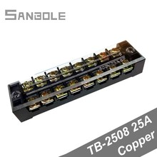 Copper 600V 15A 8 Positions 8P Dual Row Barrier Screw Terminal Block Wire Connector with plastic cover 600v 25a 2 rows 8 positions 8p covered screw terminal barrier strip block