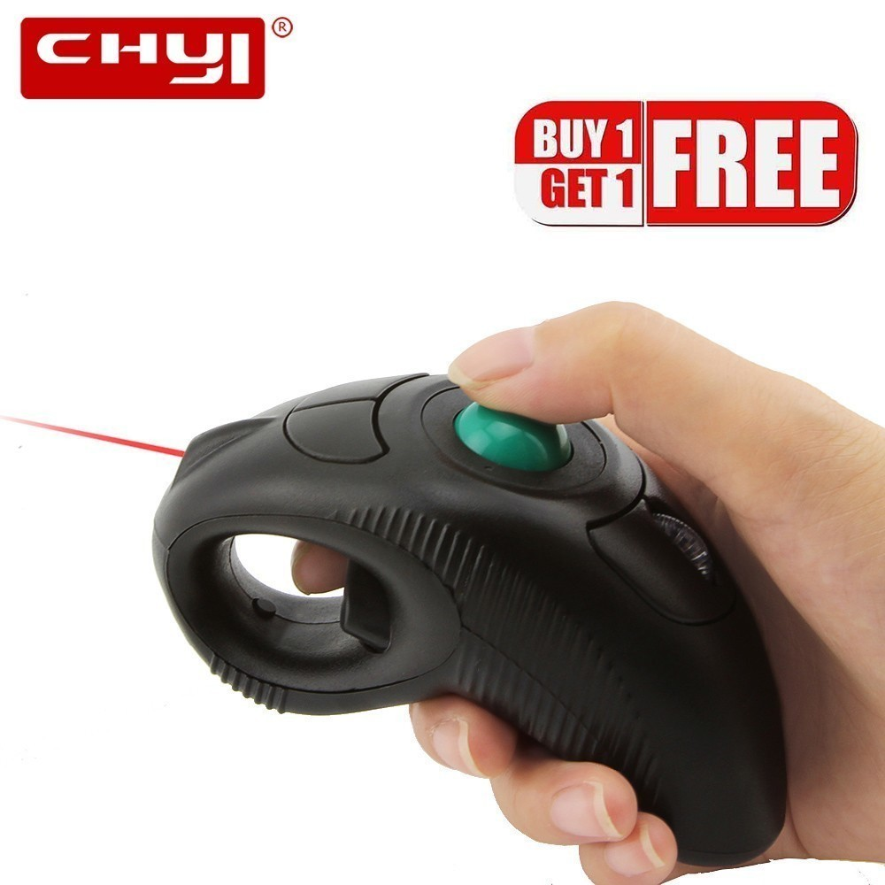 Wireless Laser Trackball Ergonomic Mouse Finger 3d Mini Mouse Handheld Air Mause Computer Mice With Pointer For Laptop Macbook
