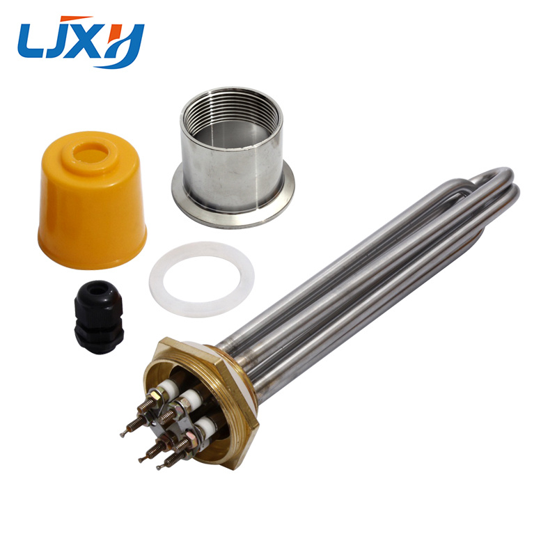 LJXH DN40 Water Heater Heating Element With 304SS Head Nut Copper Thread 220V/380V Power 3KW/4.5KW/6KW/9KW/12KW  For Water Tank