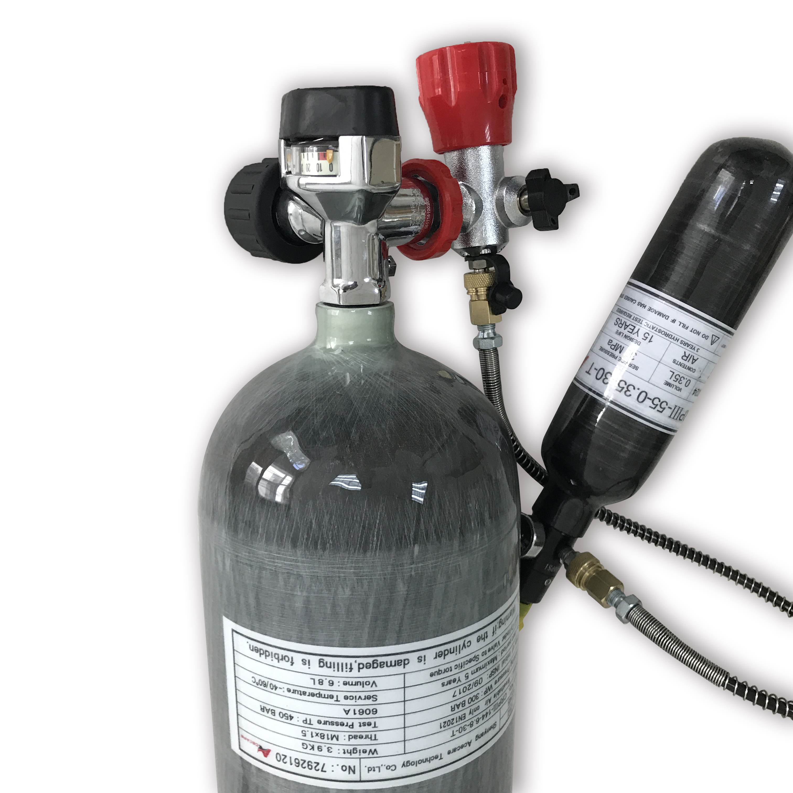 AC16820161035 Compressed Air Guns To Hunt 6.8L Carbon 4500 Psi Oxygen Cylinders Diving 300bar Silenciador Airforce Condor Pcp