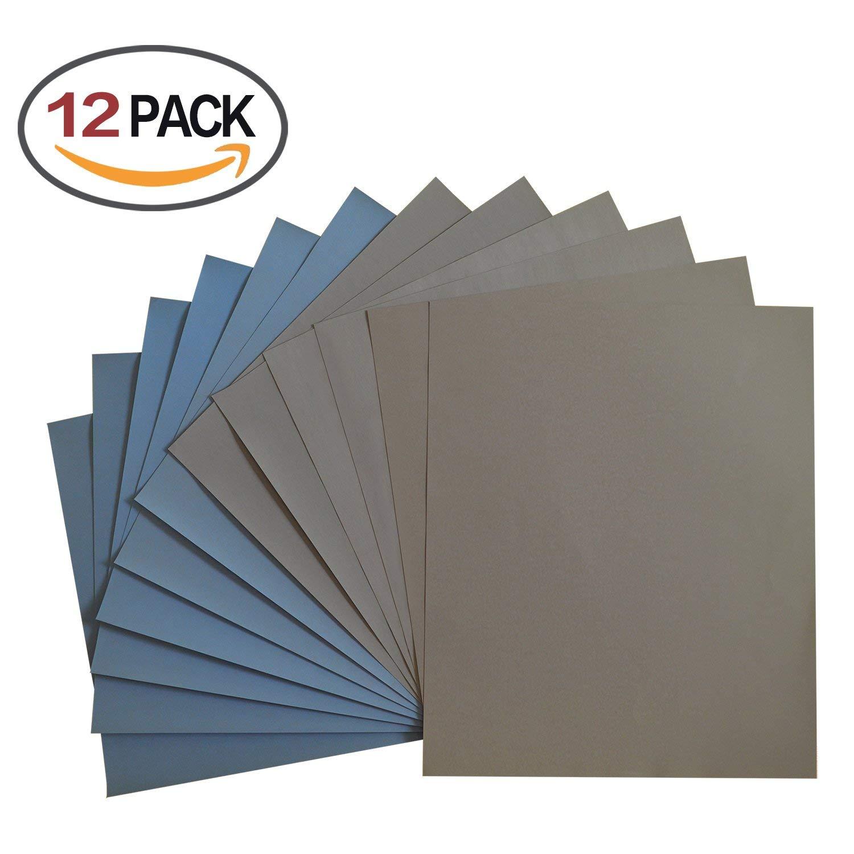 HLZS-Grit 1500 2000 2500 3000 5000 7000 High Precision Polishing Sanding Wet/dry Abrasive Sandpaper Sheets - Germany, Pack Of