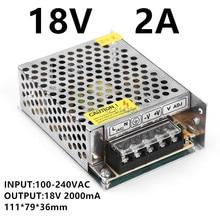 1PCS 50W 18V 2A power supply AC to DC power suply 18V 50w power supply 100-240VAC 111*79*36mm