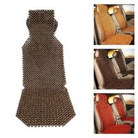 45x130cm Car Seat Protector Summer Cool Wooden Beads Seat Cover Massage Car Seat Cushion Car Seat Cover
