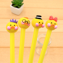 48pcs/set Cartoon Lovely Ugly Ugly Fashion Duck Neutral Pen Black 0.38mm Student Neutral Pen Super Cute ngr ugly animals