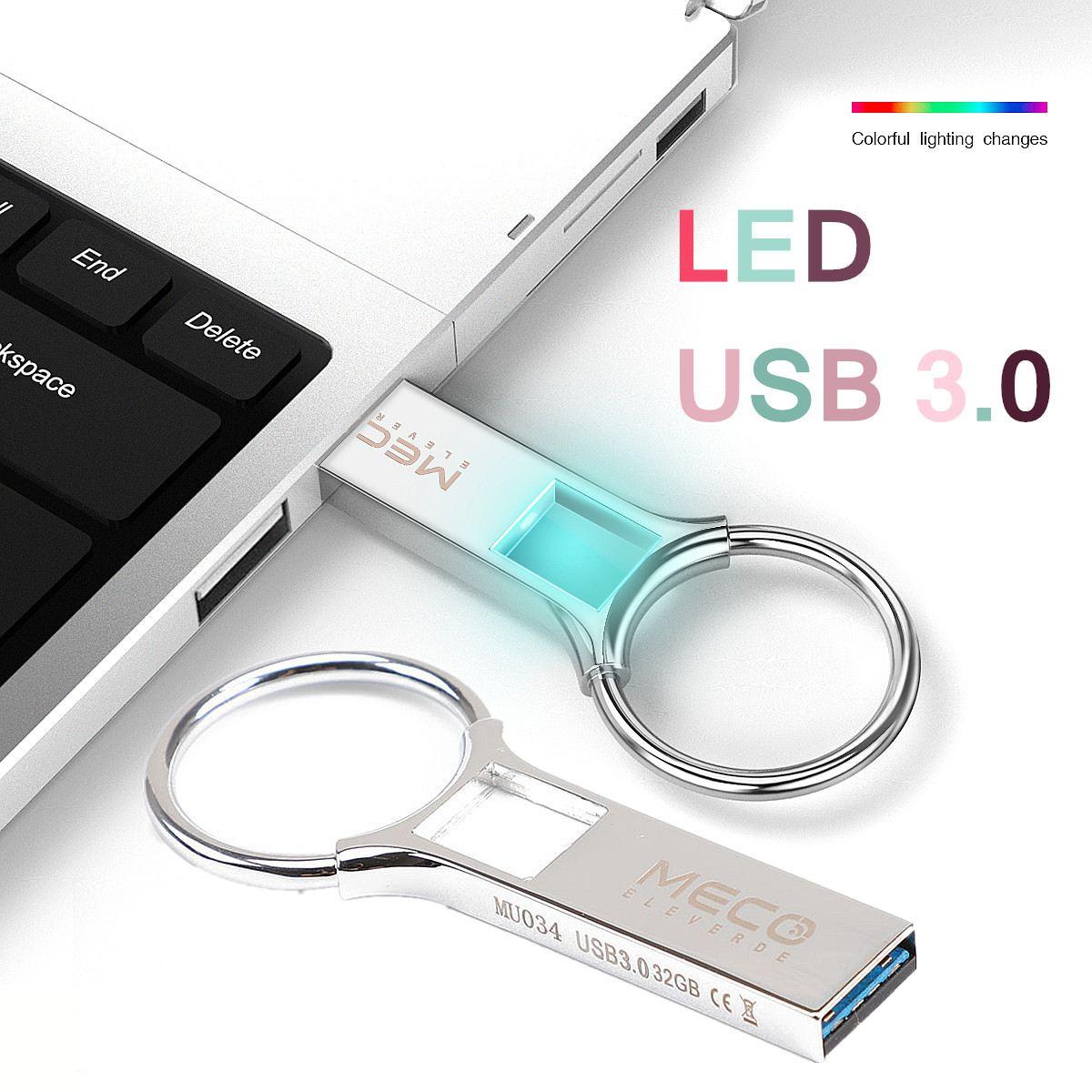 High Speed Usb 3.0 Pen Drive Led Flash USB Flash Drive External Storage Memory Stick 32GB Micro Keychain USB Stick Pendrive