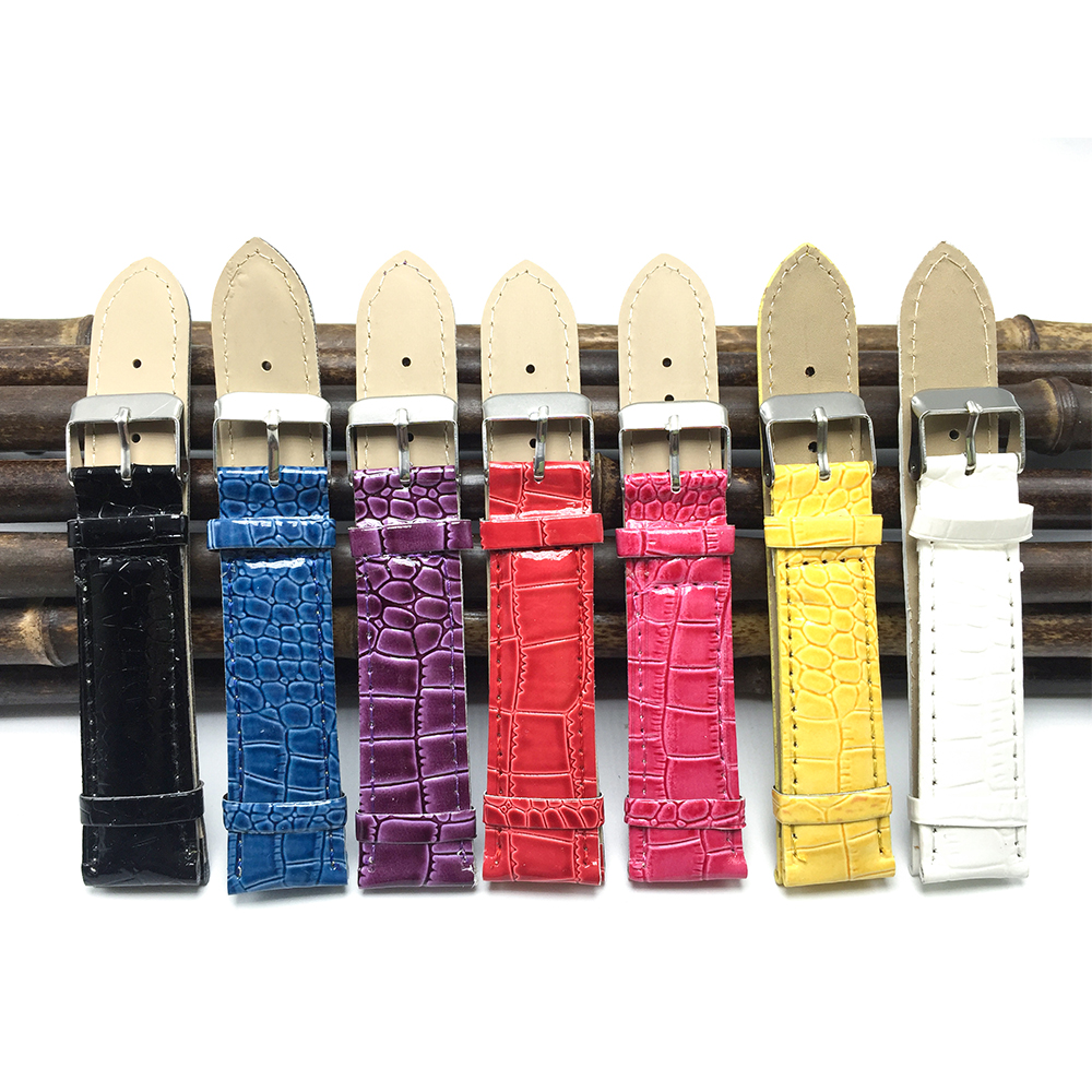 Free Shipping Multicolor Embossed Watch Band 18mm 20mm 2020 Women Bracelets And Watchbands 20mm For Women's Watch Strap FZ007