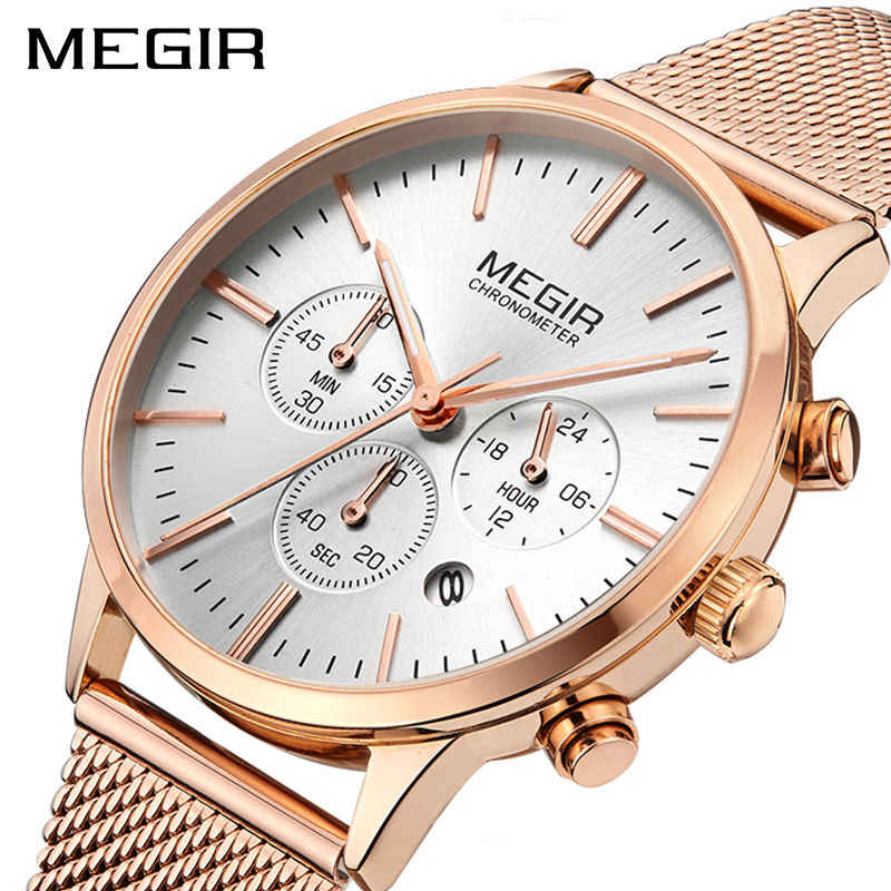 MEGIR מותג יוקרה נשים שעונים אופנה קוורץ גבירותיי שעון ספורט Relogio Feminino שעון שעוני יד לאוהבים ילדה חבר 2011