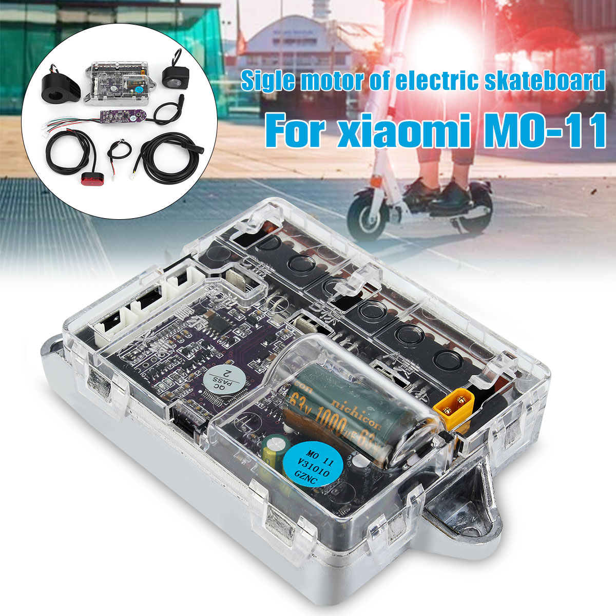 Planche à roulettes trottinette bricolage Sigle Skateboard électrique contrôleur de moteur Principal Conseil ESC Substitut Kit pour M0-11 MO-11 36 V