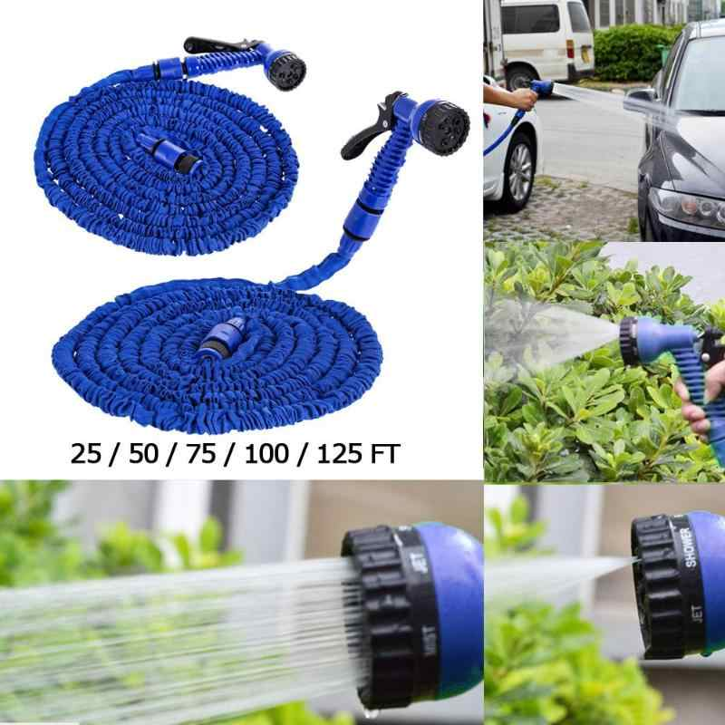25FT-200FT Garden Hose Spray Gun Expandable Flexible Plastic Hoses Water Pipe Gun for Car Wash Garden Watering RV Swimming Pool