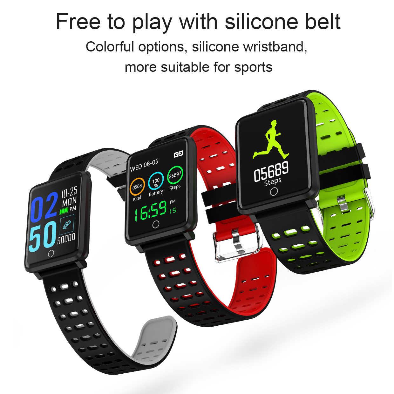 Смарт-часы для мужчин и женщин цветной экран спортивный фитнес-трекер с пульсометром контроль артериального давления IP67 водонепроницаемый браслет