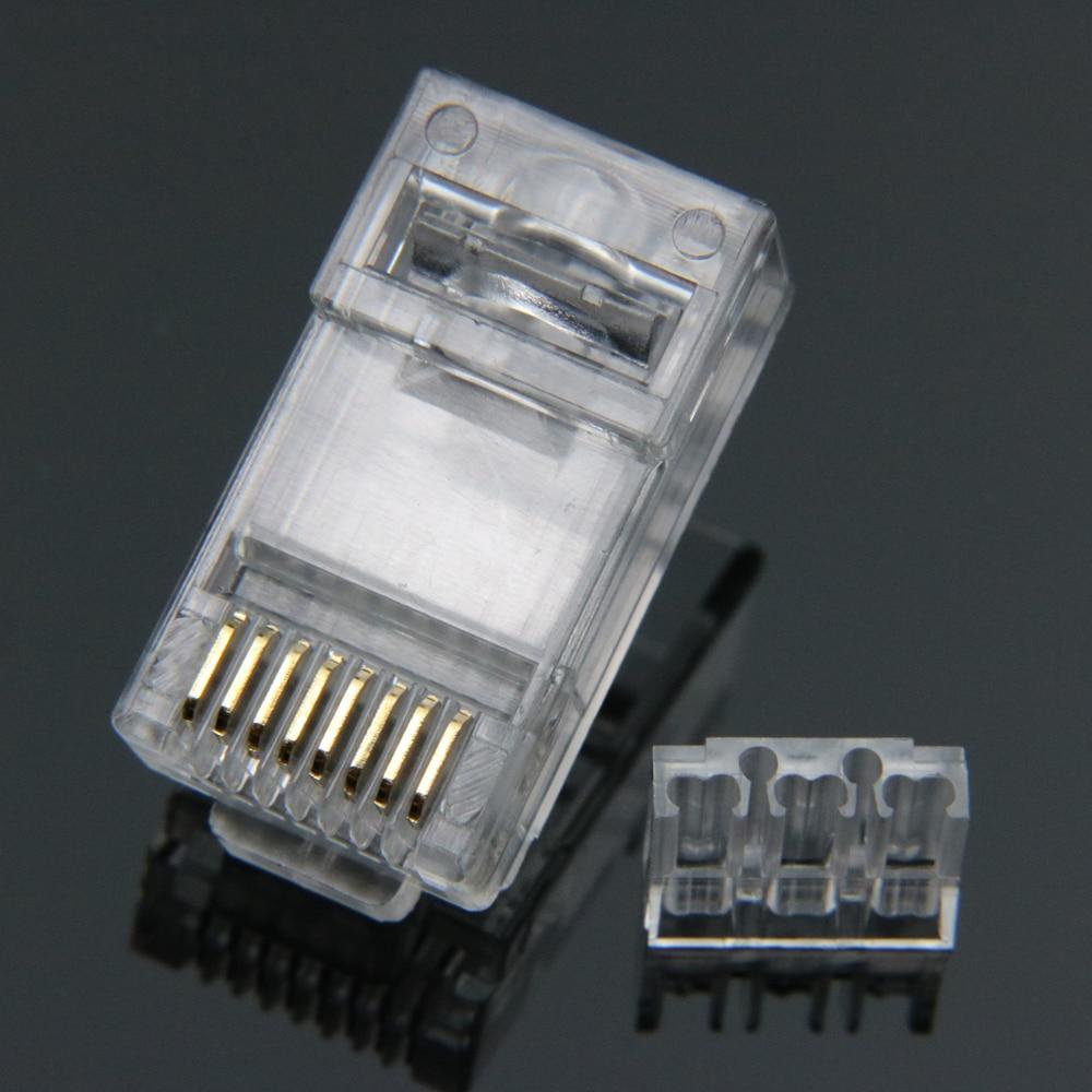 Image 2 - Xintylink rj45 разъем cat6 ethernet кабель штекер cat 6 сети 8pin RJ 45 позолоченный utp штекер 8p8c неэкранированный нагрузочный бар 50 шт.