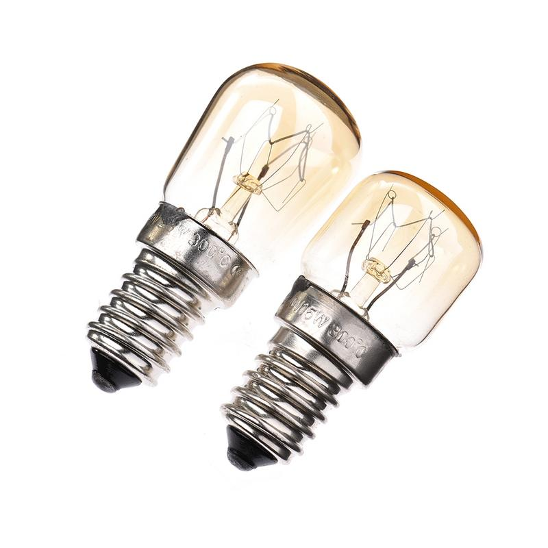 Kaigelin 15W 25W LED Filament E14 Bulb AC220-240V Transparent Glass Lamp High Temperature 300 Degrees Oven Light