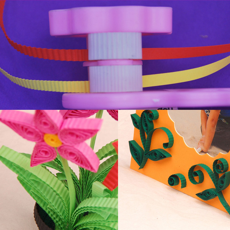 1 Pcs Arts Crafts Sewing Craft DIY Wave Shape Craft Paper Scrapbooking Stamping Plastic Paper Quilling Tool 3