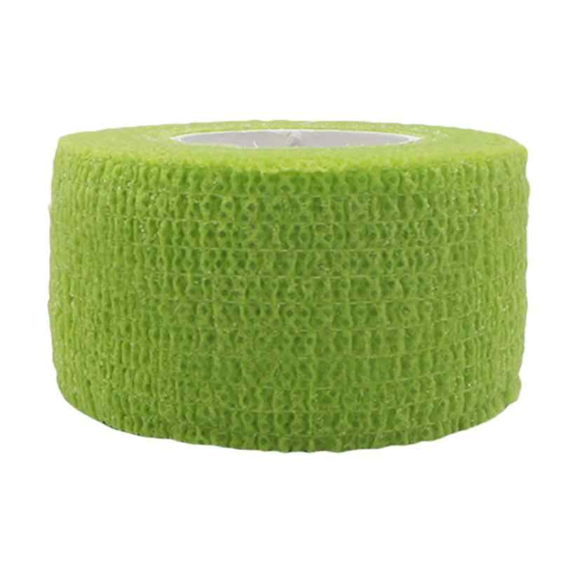 Sport di Protezione Bendaggio Elastico di Colore Tessuto Non Tessuto di Auto-Adesivo Bendaggio Elastico Adesivo Bianco Bendaggio Elastico