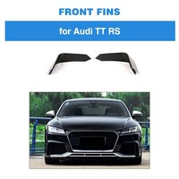 2pcs Fins For Audi TTRS 2Door Coupe Carbon Fiber Front Bumper Fins Body kits