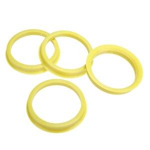 Image 4 - 4 pcs 66.6 à 57.1mm jaune en plastique roue Center collier moyeu central anneau roue jante pièces accessoires de voiture universel pour toutes les voitures