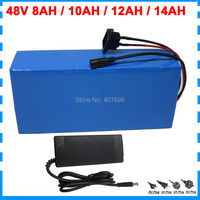 48V Electric bike battery 48V 8AH 10AH 12AH 14AH lithium ion battery With BMS 54.6V 2A Charger Free customs fee