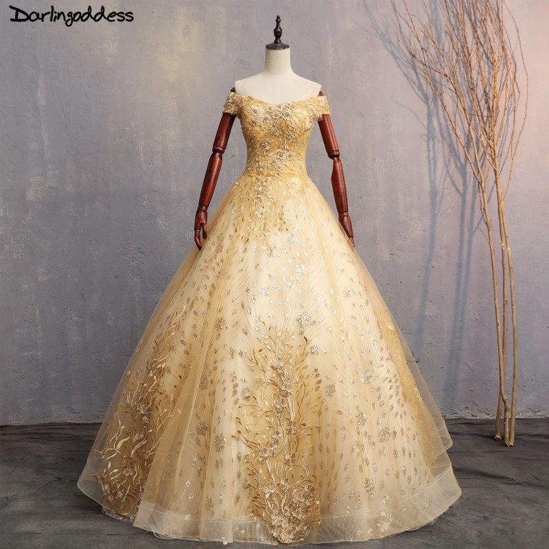 Luxe or Quinceanera robes 2018 doux 16 robes pour 15 ans dentelle robe de bal Quinceanera robes de bal robes Vestido 15 Anos