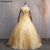 Luxury Gold Quinceanera Dresses 2018 Sweet 16 Dresses For 15 Years Lace Ball Gown Quinceanera Gowns Prom Dresses Vestido 15 Anos