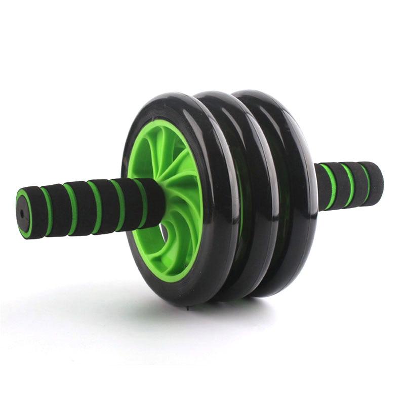 Unisexe 3 roues roulement à rouleaux abdominaux avec coussinet ABS roue ventre exercice Abdomen Muscle formation Fitness musculation