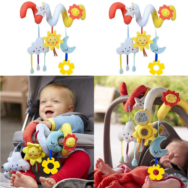 Soft Infant Baby Rattles Plush Animal Stroller Music Hanging Bell Toys Doll Bed
