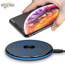 KISSCASE Universal Phone Wireless Charger For iPhone MAX XR XS X Fast Charging For Samsung S10 S9 S8 Ultra Thin Phone Chargers ultra thin universal wireless charger for iphone android samsung