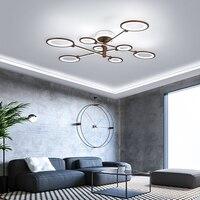 Поворотный кронштейн современные светодиодные потолочные светильники для гостиной спальни plafonnier светодиодные AC90 260V коричневые светодиод