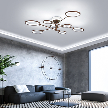 Rotatable arm Modern led ceiling lamps for living room bedroom plafonnier led AC90-260V Brown Led ceiling light Fixtures