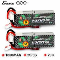 2 pièces Gens ace 2 S 3 S Lipo batterie 1800 mAh 7.4 V 11.1 V 20C-40C Deans Plug batterie Pack pour avion petit 1:16 RC voiture E dédié
