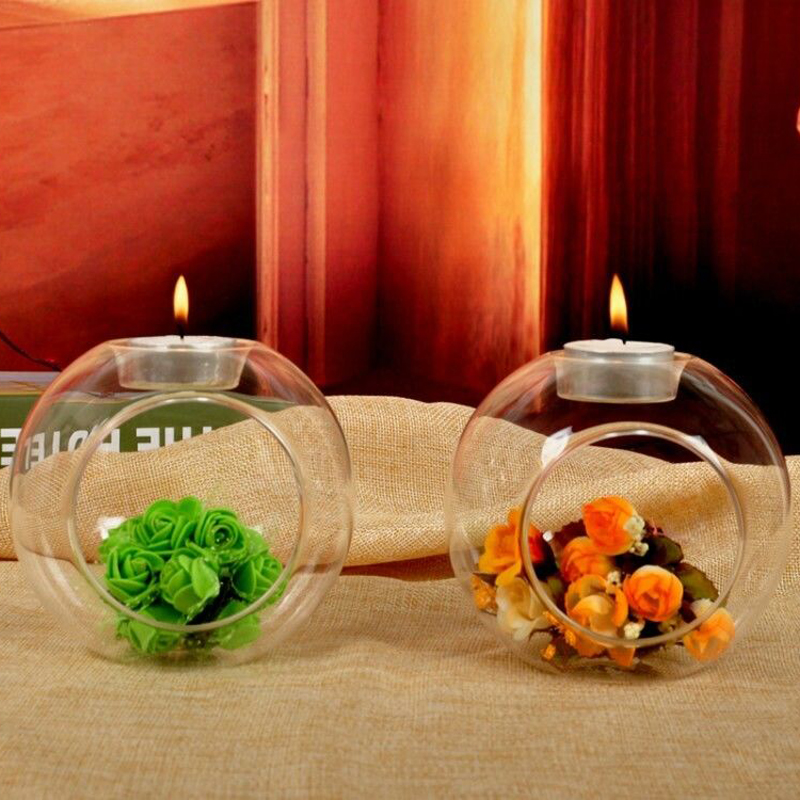Home & Garden Candle Holders Confident 80/100/120mm Glass Crystal Glass Hanging Candle Holder Candlestick Home Wedding Party Dinner Decor Grass Candle Holder