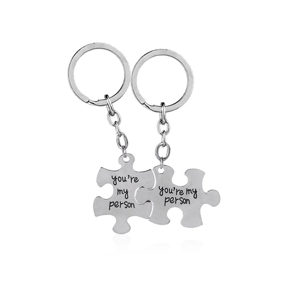 Sangdo Women Men Keychains Silver Color You are my person Delicate Matching  Letters Key Chain Alloy Pendant-in Key Chains from Jewelry   Accessories on  ... 73fac3c52