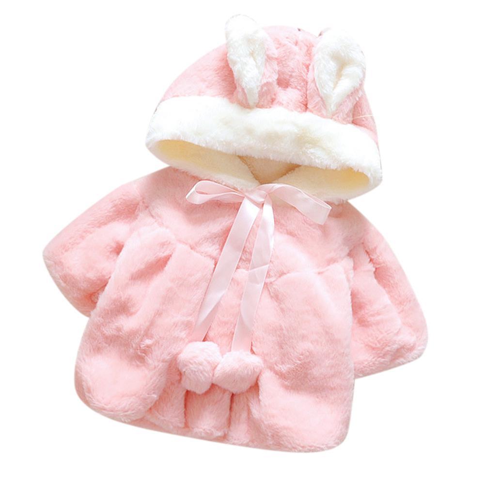 Kidlove Outwear Coat Jacket Cloak Newborn Baby-Girls Winter Hooded Fleeced Cute Warm