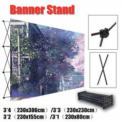 4 Sizes Aluminum Flower Wall Folding Stand Frame Wedding Backdrop Decor Banner Presentation Advertisement Display Shelf Holder