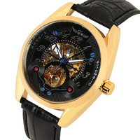 Relógios Mecânicos Automáticos dos homens de Luxo Automático auto liquidação Relógios Mecânicos Negócio Relógio Mecânico de Engrenagem de Ouro|Relógios mecânicos| |  -