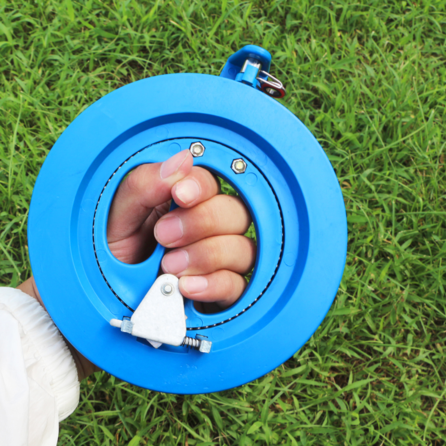 16cm Professional Plastic Round Handle Kite Line Winder Winding Reel Grip Wheel with 150m Flying Line String Kite Flying Tools image