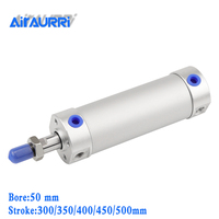 smc type Round cylinder 50mm bore 300/350/400/450/500mm stroke CG1BN Rubber bumper / CG1BA air cushion large pneumatic cylinder