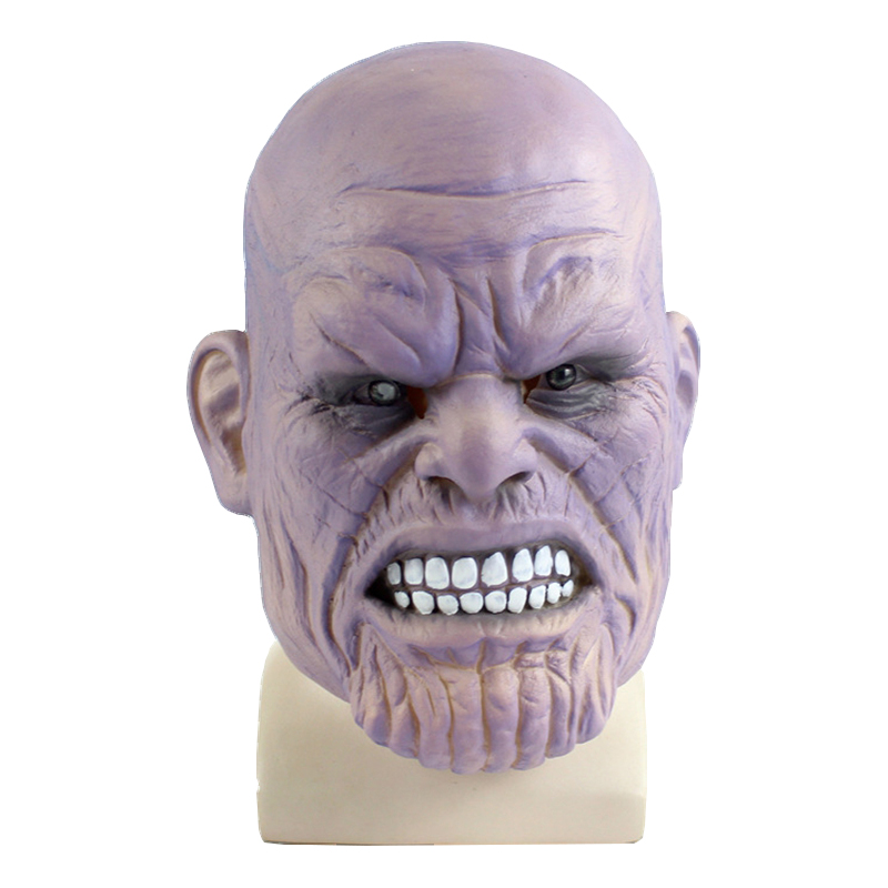 Deluxe Thanos Mask Infinity Avengers Helmet Cosplay Full Face Latex Mask Costume Prop Halloween Party Masks Adult
