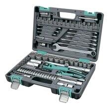 Набор ручного инструмента STELS 14117 (82 предмета из хромванадиевой стали, кейс в комплекте)